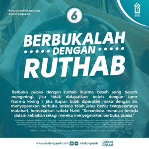 Berbukalah dengan Ruthab