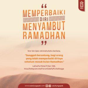Memperbaiki Diri Menyambut Ramadhan