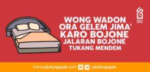 Wong Wadon Ora Gelem Jima' Karo Bojone Jalaran Bojone Tukang Mendem (Teler)